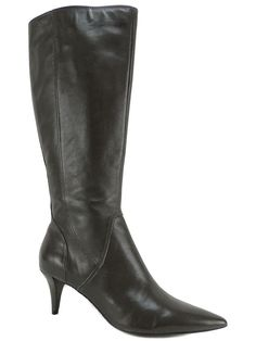 Nine West Women's Musthaveo Knee High Boots Brownish Grey Leather Size 6.5 (B,M) #NineWest #KneeHighBoots #Dress