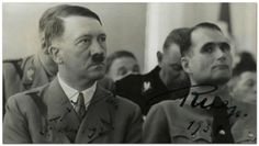 """Desperate for a mentor, Rudolf Hess spent whatever time he could with Hitler in his jail cell in Munich's Landsburg Prison after WWI. He acted as secretary for """"Mein Kampf"""". Released from prison, Hess was rarely away from Hitler's side."""