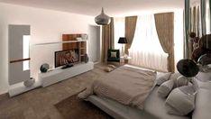 dormitor-matrimonial Decor, Interior Design, Furniture, Bed, Home, Interior, Entryway, Studio, Home Decor