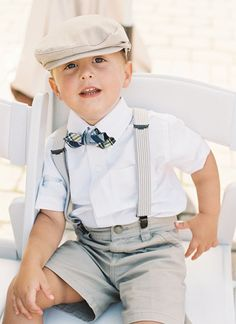 little gent in suspenders + a bow tie! | Adam Barnes #wedding