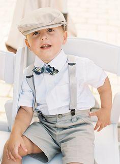 little gent in suspenders + a bow tie! | Adam Barnes #wedding