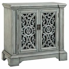 Audra Entry Cabinet with Carved Door Fronts - Overstock™ Shopping - Great Deals on Coffee, Sofa & End Tables