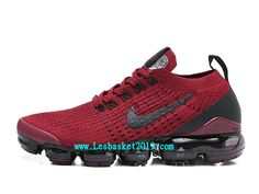 a8dfcfb9eaf6 Nike Air VaporMax Chaussures Officiel Running 2019 Pas Cher Pour Homme  Rouge Noir AJ6900-602