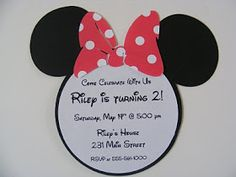 Whimsical Creations by Ann: Minnie Mouse Birthday Party Invitations