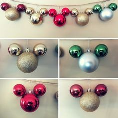Diy mickey mouse christmas ornaments disney christmas decorations mickey mouse inspired ornaments holiday time at disneyland and diy disney holiday ornaments solutioingenieria Gallery