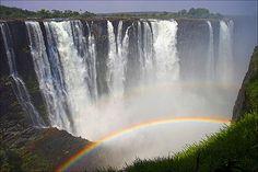 Over the Rainbow ~ Victoria Falls, Zimbabwe, Africa