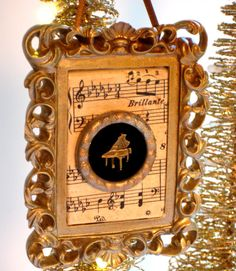 Classical Music Christmas Ornament using a by jensdreamdecor, $17.50