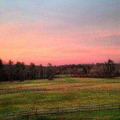 East Kingston NH sunset