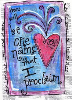 The Only Name (Yours Will Be) ~Big Daddy Weave~ *Illustration Print by nicplynel on Etsy*
