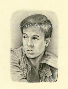 Enrique Iglesias by rondawest {from USA} ~ pencil portrait