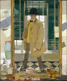 William Orpen (British, 1878–1931). Self-Portrait, ca. 1910. The Metropolitan Museum of Art, New York. Gift of George F. Baker, 1914 (14.59) | This self-portrait, also known as Leading the Life in the West, refers to Orpen's life as a young artist in the West End of London.