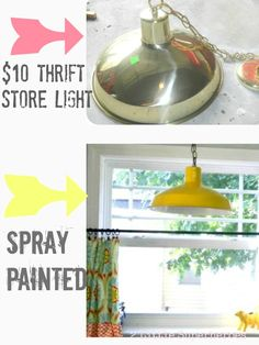 Barn Light Electric Knock-off. ReStore always has these brass lights in stock (for under $10).
