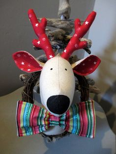 Christmas Wreath - Reindeer Wreath - Faux Taxidermy Stag £25.00