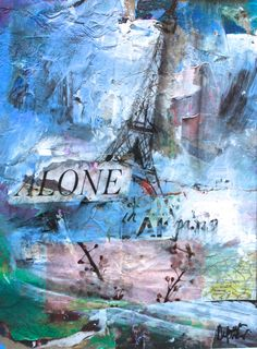 Paris alone Collage