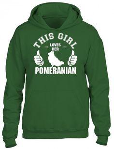 this girl loves her pomeranian t shirt design 1 HOODIE