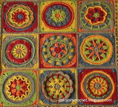 Circles of the Sun Gallery | LillaBjörn's Crochet World.....link to pattern