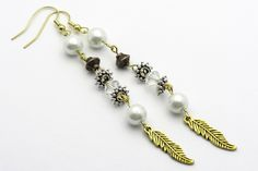 Gold Feather Earring