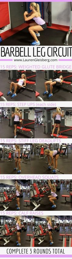Barbell Leg Circuit Workout - click for full plans