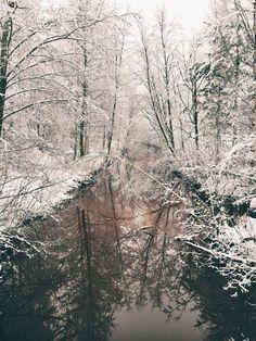 A Small River #Finland #Winter
