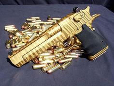 Golden gun, 007 style.  Only difference is this thing is a hand cannon.