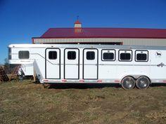 4 Horse Slant Aluminum Trailer