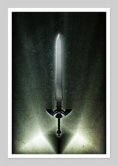 Zelda Inspired 13x19 Inch Print. via Etsy.