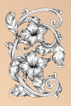 Scrimshaw patterns Batik Pattern, Black And White Flowers, Floral Drawing, Wood Burning Patterns, Metal Engraving, Floral Wall Art, Art Journal Pages, Henna Designs, Textures Patterns