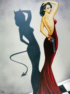 "abesworlds:  Scott Rohlfs""Devil Inside""www.scottrohlfs.com"