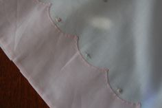 The Old Fashioned Baby Sewing Room: Baby Layette French Gown - Scalloped hem, view 4