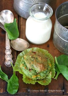 The Culinary Tribune › Savory Spinach Muffins – vegan<br>サンドライトマト入りほうれん草マフィン