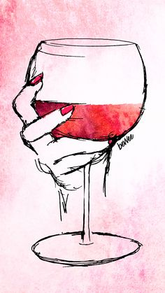 Watercolor wine digital download to add some sass to your phone! ♥ Just click through to download the 4 pack of wine backgrounds! Watercolor Wallpaper, Watercolor Paintings, Wine Glass Drawing, Art Sketches, Art Drawings, Wine Wallpaper, Wine Painting, Wine Art, Pop Art