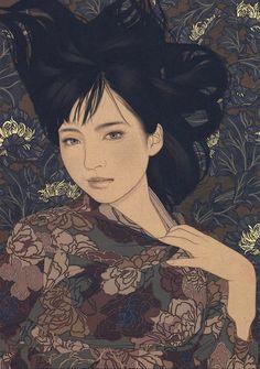 Japanese Art Modern, Japanese Art Prints, Japanese Artists, Art Occidental, Art Asiatique, Art Japonais, Japan Art, Portrait Art, Cute Art