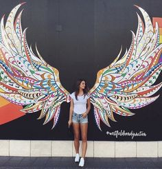 Wings display vittoria - Top Of The World Do Pi Ke Murals Street Art, Graffiti Wall Art, Street Art Graffiti, Graffiti Artists, Graffiti Lettering, Mural Painting, Mural Art, Wall Murals, Angel Wings Art