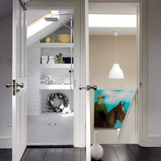 White shower room with built-in storage   Modern shower room   Design ideas   housetohome.co.uk  Find the best home deals with www.oony.com and www.oony.co.uk!