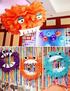 Fuzzy & CUTE Little Monster Party     Visit www.fireblossomcandle.com for more party ideas!