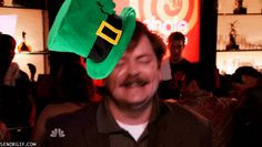 Ron Swanson is Definitely Feeling This St. Patty's Day