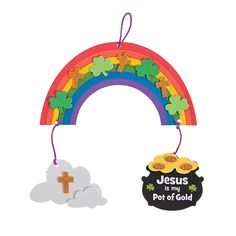 Jesus Is My Pot Of Gold Mobile Craft Kit -