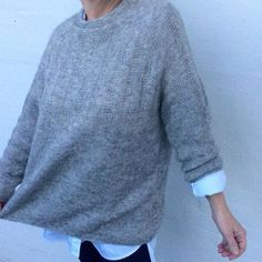 Ravelry: Spacious pattern by Lone Kjeldsen Jumper Knitting Pattern, Easy Knitting, Crochet Patron, Knit Crochet, Oversize Pullover, Angora, Knit Patterns, Sweater Weather, Knitting Projects