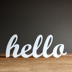 SALE hello acrylic sign by OhDierLiving on Etsy, $10.00