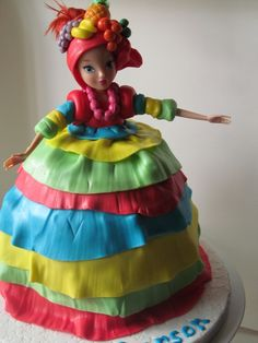 Carmen miranda carnival dress costume cake