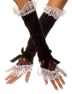 Private Island Party  - French Maid Glovettes 5049, $4.99   These playful glovettes are the perfect addition to your French maid costume.