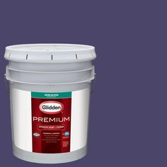 Glidden Premium 5 gal. #nfl-167B Baltimore Ravens Purple Semi-Gloss Interior Paint with Primer, Purples/Lavenders