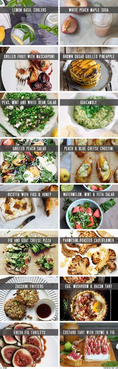 Summer food ideas   //   FOXINTHEPINE.COM