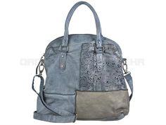 Billy The Kid CULTURE-MIX - Leder XL Shopper Estefania Damentasche Umhängetasche - aqua blue