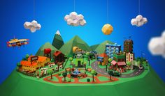 Sweet Papercraft Town Project: http://www.playmagazine.info/sweet-papercraft-town-project/