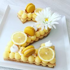 Ruban de Gourmandises: Numbercake citron meringuée