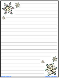 Snowflake Writing Paper | The AmazingClassroom.com Blog: FREE Snowflake  Journal Writing Paper  Free Printable Lined Writing Paper