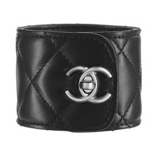 Chanel quilted leather cuff bracelet