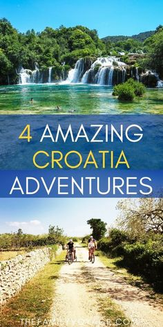 Did you know that there are so many ways to explore Croatia outdoors? Read on to find out about hiking in Croatia, biking in Croatia and more. Youll visit waterfalls at Krka National Park and Plit European Destination, European Travel, Adventure Holiday, Adventure Travel, Family Adventure, Pula Croatia, Split Croatia, Travel With Kids, Family Travel