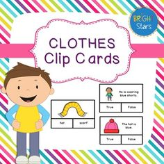 These 84 Clothing Clip Cards are a great way to encourage independent learning or practice new vocabulary. Easy to use for both right and left-handed students. These cards are suitable for various ages and are great if you require differentiated activities or teach different classes.